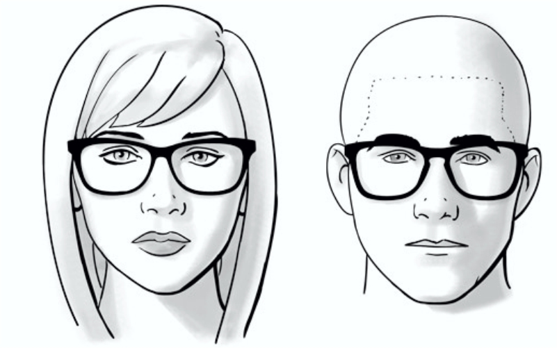 Intalnire cu ochelari de fata